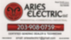 #9 - Aries Electric One quarter page ad.
