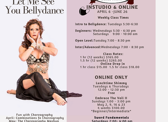 Online Beginner Bellydance Saturday