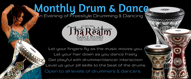 Drum and Dance Nights at Tha Realm Dance Studio, Abbotsfords Home for Bellydance