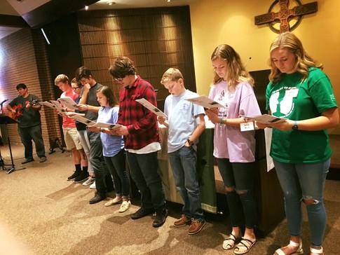 Youth lead worship