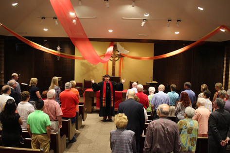 Holy Spirit comes to worship