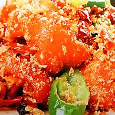 Deep-fired Boneless Pork Hock Hong Kong Style  避風塘拆骨咸豬手