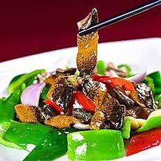 Eel with Black Bean Sauce  豉汁青椒炒鱔片