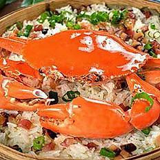 Sauteed King Crab with Glutinous Rice  糯米炒蟹  (S.P.)
