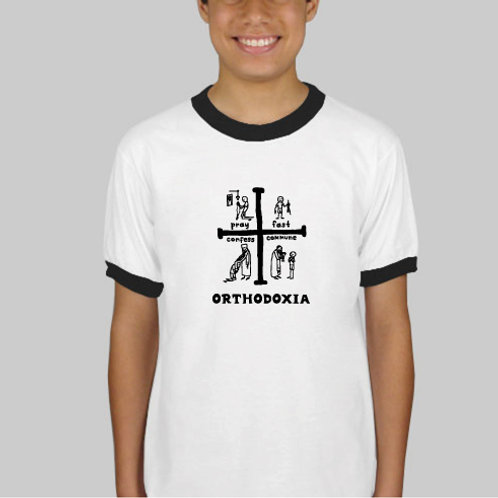 Life Is God / Orthodoxia Cross Youth T-Shirt