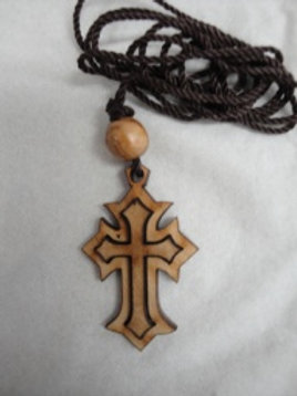 Olive Wood Cross Necklace from Bethlehem #2