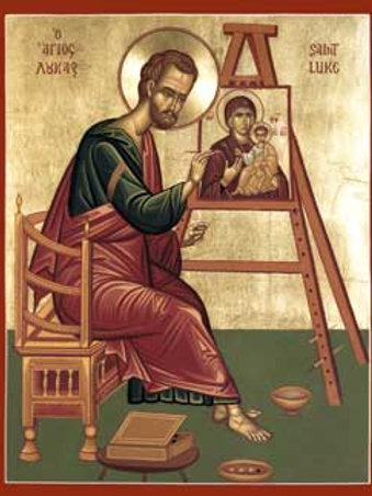 St. Luke the Evangelist Painting an Icon