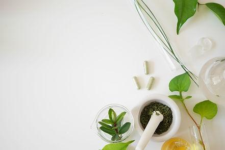 alternative medicine herb , mortar, labo
