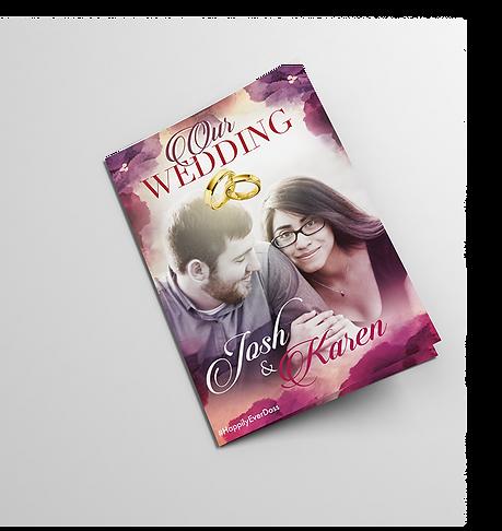magazine style wedding programme
