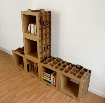 ¡Hazlo tu mismo! Muebles modulares de cartón