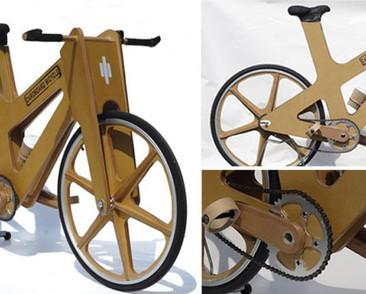 Transporte ecológico: Bicicleta de cartón