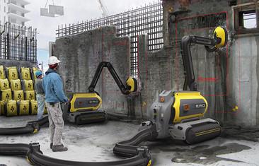 Robot come-concreto