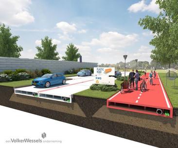 Las futuras carreteras holandesas hechas de plástico reciclado serán como Legos