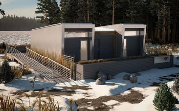 Vivienda modular sustentable para familias en áreas remotas creadas por estudiantes