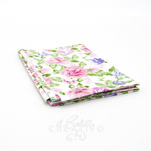 Tessuto 100% Twill di cotone con stampa floreale