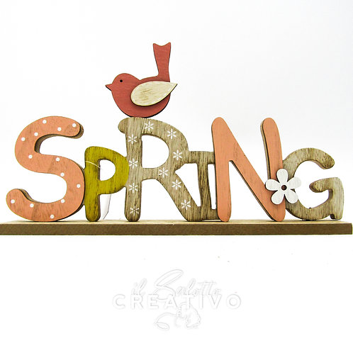 Spring Wood Decoration cm 30x20