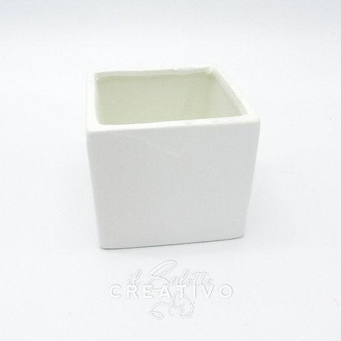 Vasetto Cubo bianco cm 10x10