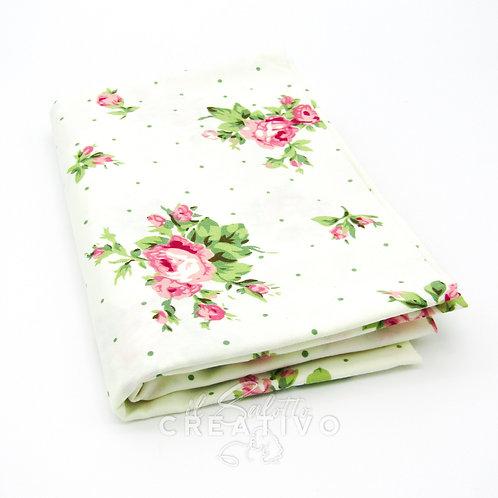 Tessuto 100% Twill di cotone stampa floreale