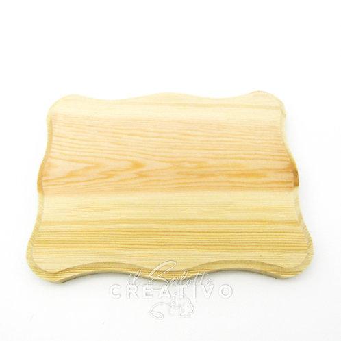 Sagoma legno rettangolare smerlata cm 12x15