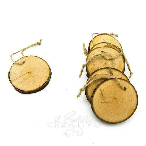 Base legno wood decoration diam. cm 5