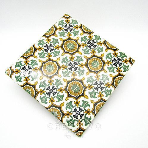 Mattonella in Ceramica Decorata cm 20X20 - by Il Salotto Creativo