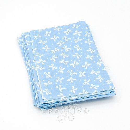 Tessuto 100% Twill di cotone con stampa fiocchi