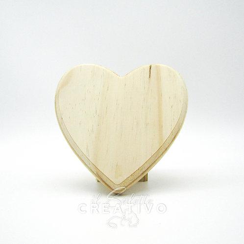 Sagoma legno cuore cm 14x16