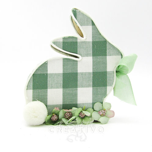 Kit Rabbit Wood quadri S 11x2x13 cm - by Il Salotto Creativo