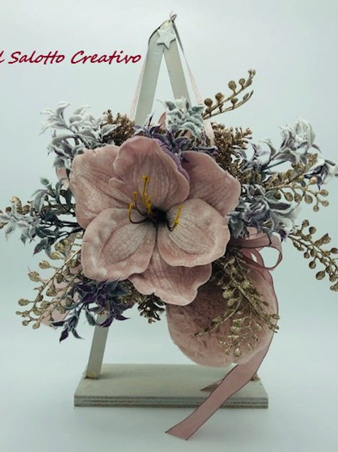 Fuori Porta Fiore Velluto Rosa