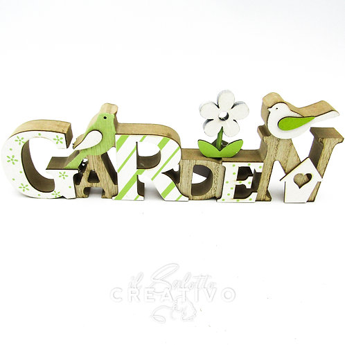 Garden Wood Decoration cm 25x7