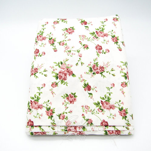 Tessuto 100% Twill di cotone floreale