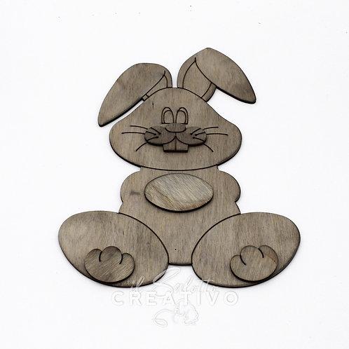 Coniglio in legno 3D - by I Nastri di Mirta