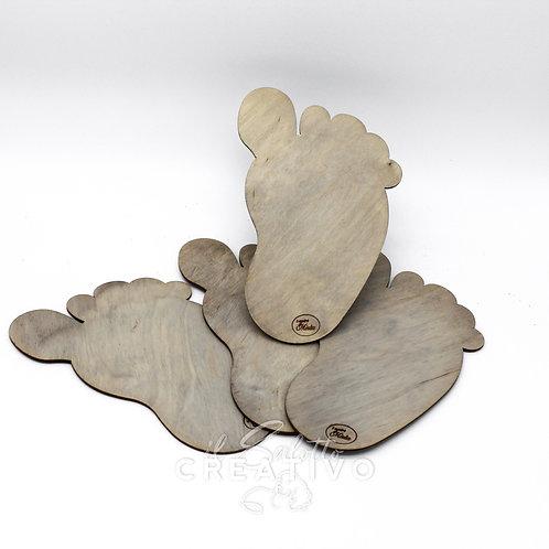 Sagoma Piede in legno -  by I nastri di Mirta