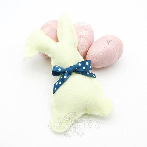 Fustellato Coniglietto con fiocco