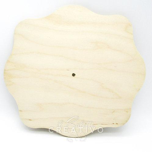Base legno rettangolare smerlata cm 30x35