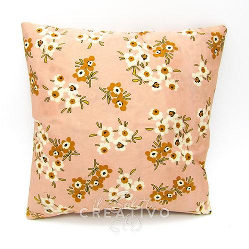 Cuscino in seta 100% fantasia floreale 30x30 cm - by Il Salotto Creativo
