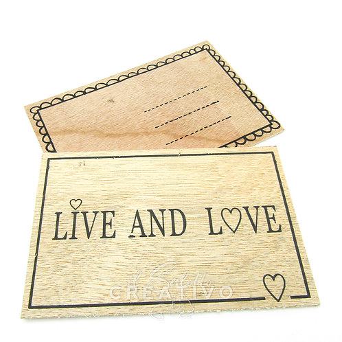 Cartoline in legno - by I Nastri di Mirta 10X15 cm