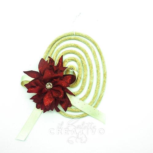 Girigogolo Ovale S con fiore Stella