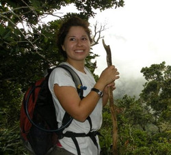 Andrea Hiking in Costa Rica