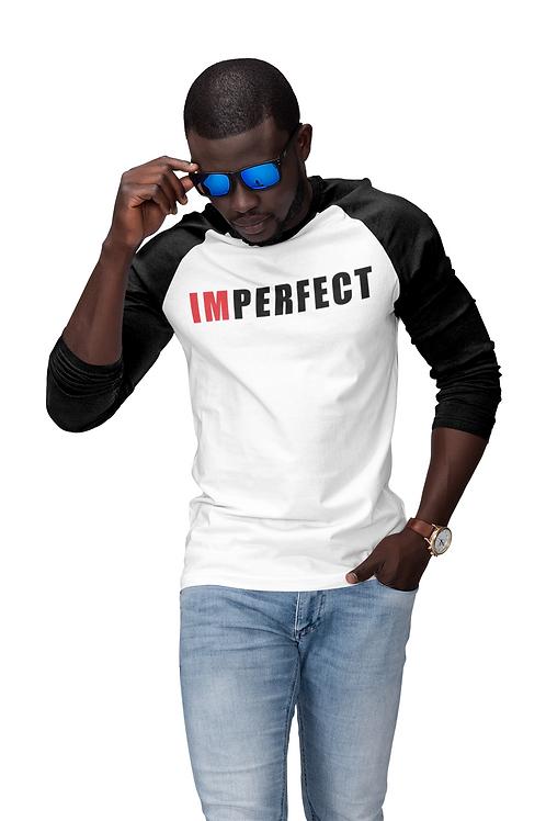 Men's 3/4 Sleeve IMPERFECT Baseball Tee