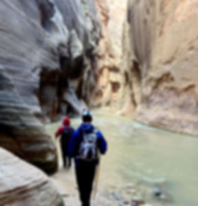 Hiking The Narrows at Zion. Trekking Poles Rental