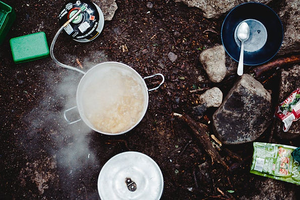Camp cooking and lighting