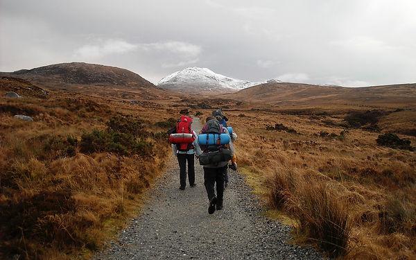 Backpacking packs, hiking