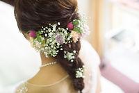 小花のヘッドドレス