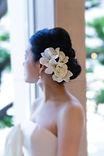 バラとデンファレのヘッドドレス