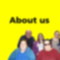 Navigation button, 'About us' page of Manchester People First website, who we are for, who is our committee and staff etc.