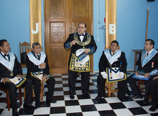 Visita do Sereníssimo à Loja Pedreiros de Machado nº 27.