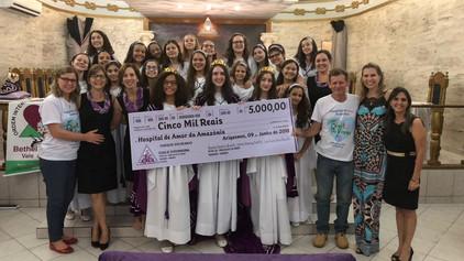 O Bethel 06, Lírios do Vale do Jamari de Ariquemes - RO faz doação ao Hospital de Amor da Amazônia.