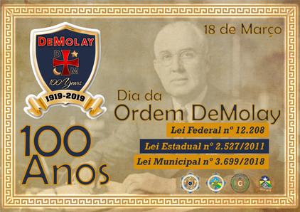 Glomaron parabeniza o Centenário da Ordem Demolay no Mundo!