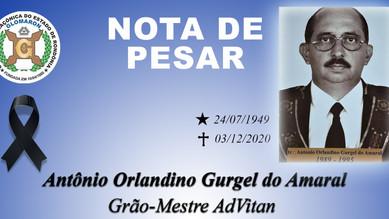 NOTA DE PESAR: Irmão Antônio Orlandino Gurgel do Amaral